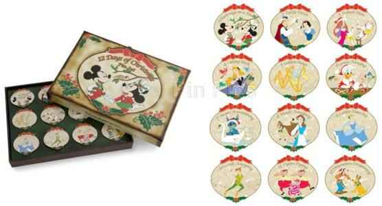 pin 66198 disneyshoppingcom the twelve 12 days of christmas boxed world of disney pin set 12 pc - Disney 12 Days Of Christmas