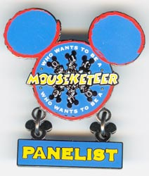 Dangle Disney Cruise Line Who Wants to Be a Mouseketeer Panelist Pin